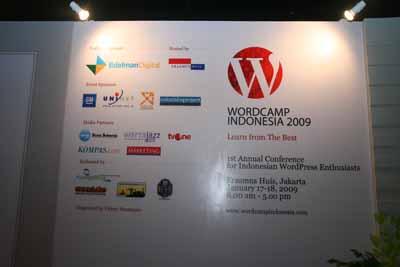 Megahnya Panggung Wordcamp Indonesia 2009