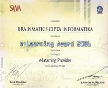 e-Learning Award 2006 dari Depdiknas